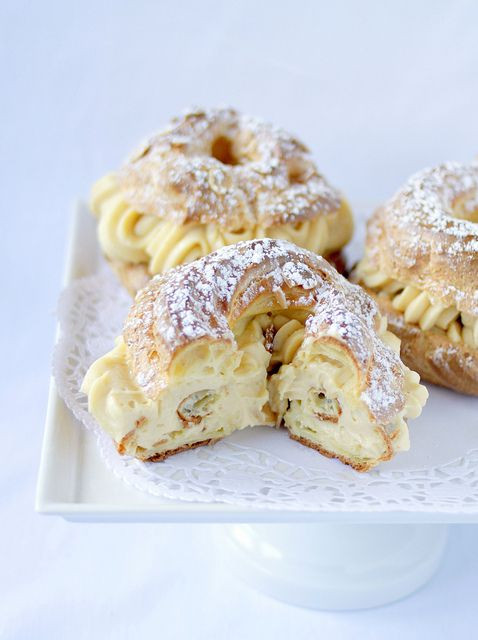 Traditional French Desserts  Paris Brest A classic French dessert Its a large ring of