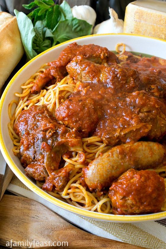 Traditional Italian Recipes  authentic italian gravy