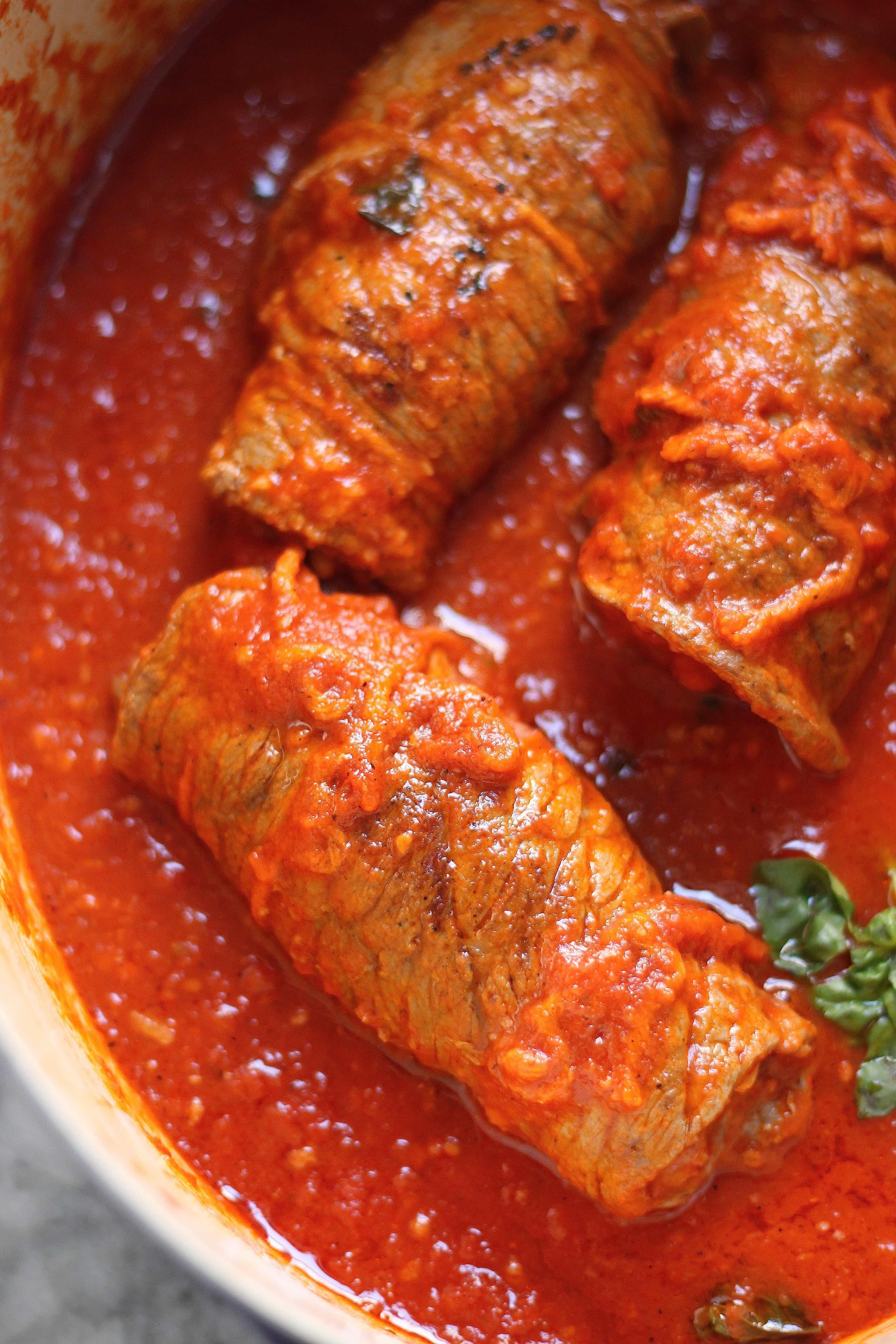 Traditional Italian Recipes  Authentic Italian Braciole Recipe with Tender Strips of