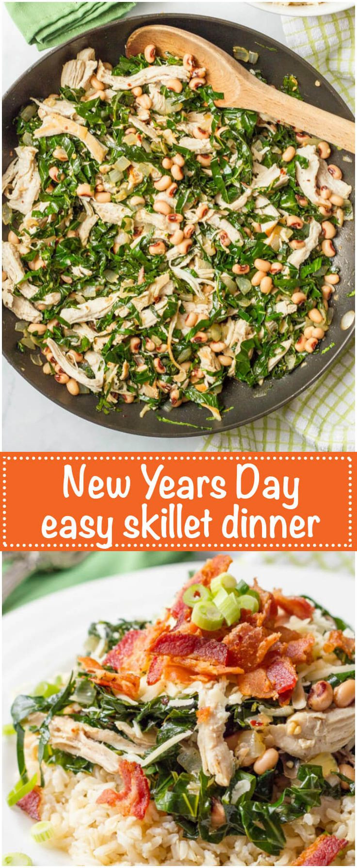 Traditional New Year'S Day Dinner  Southern New Year s Day dinner skillet