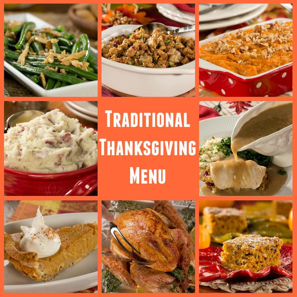 Traditional Thanksgiving Dinner Menu  Diabetic Friendly Traditional Thanksgiving Menu