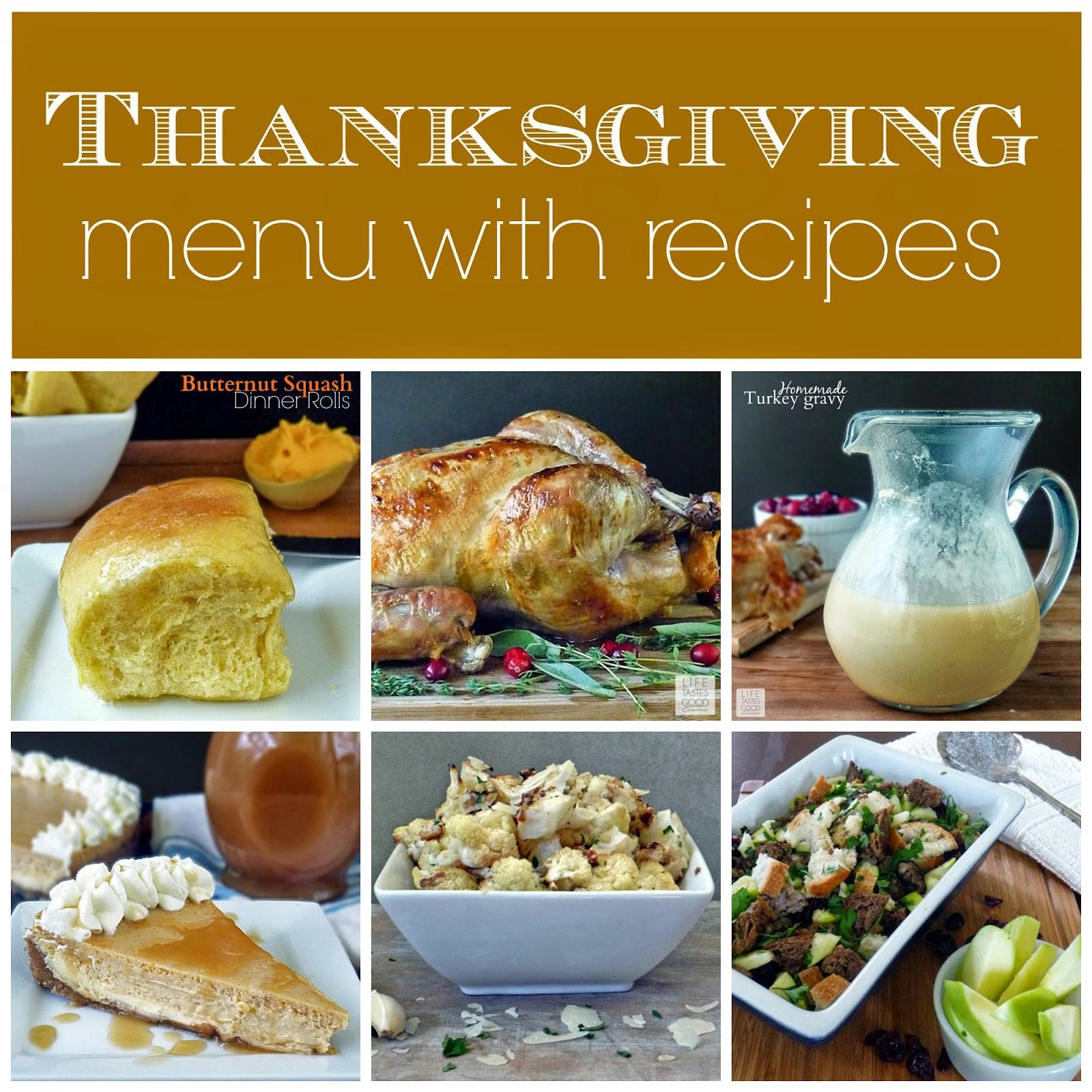 Traditional Thanksgiving Dinner Menu  Thanksgiving Dinner Menu and Recipes