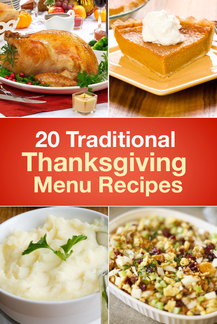 Traditional Thanksgiving Dinner Menu  20 Traditional Thanksgiving Menu Recipes