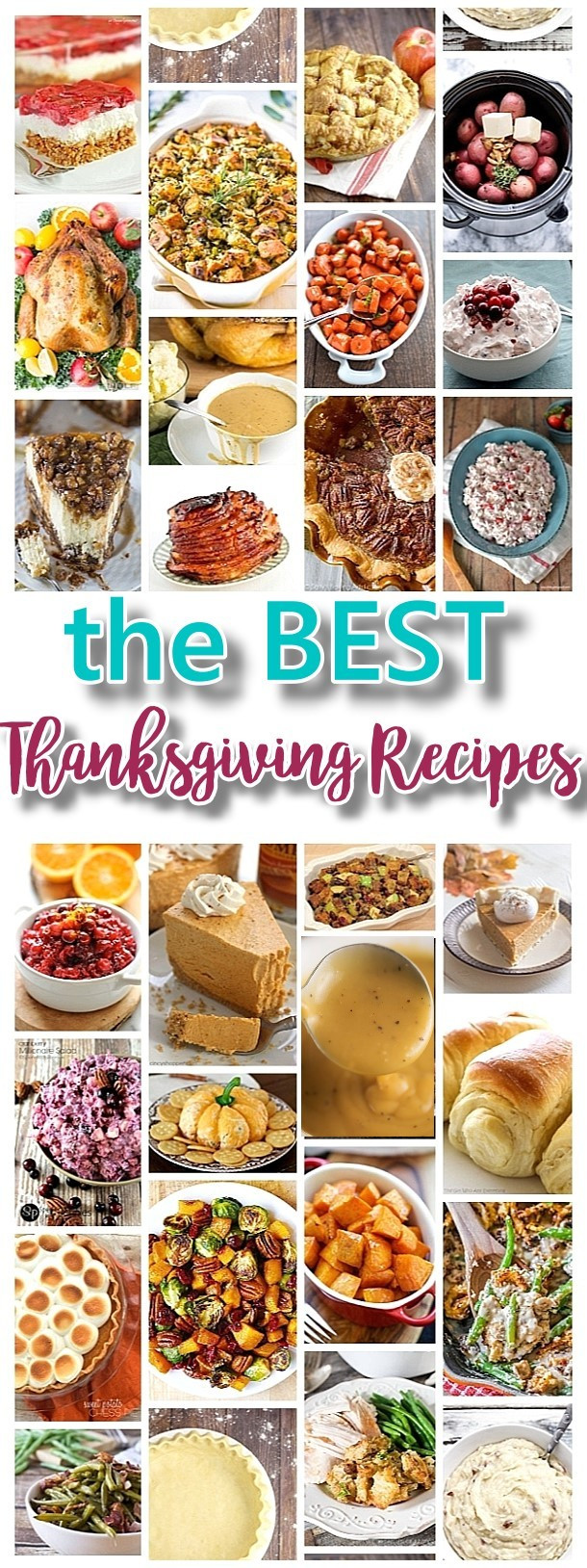 Traditional Thanksgiving Dinner Menu  The BEST Thanksgiving Dinner Holiday Favorite Menu Recipes