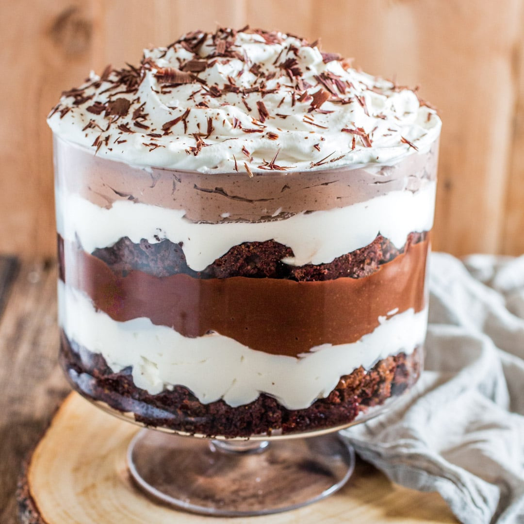 Triffle Dessert Recipe  Brownie Trifle Olivia s Cuisine