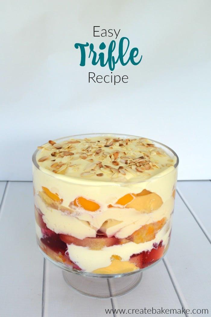 Triffle Dessert Recipe  Easy Trifle Recipe Create Bake Make
