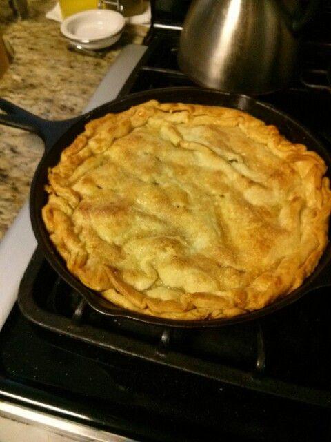 Trisha Yearwood Skillet Apple Pie  Skillets Apple pies and Apples on Pinterest