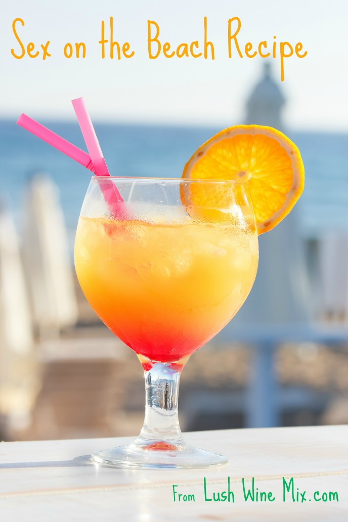 Tropical Drinks With Vodka  on the Beach Cocktail Lush Wine MixLush Wine Mix
