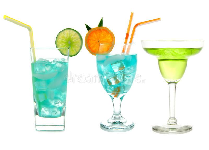 Tropical Drinks With Vodka  Three Green Blue Hawaiian Cosmopolitan Mojito Tropical