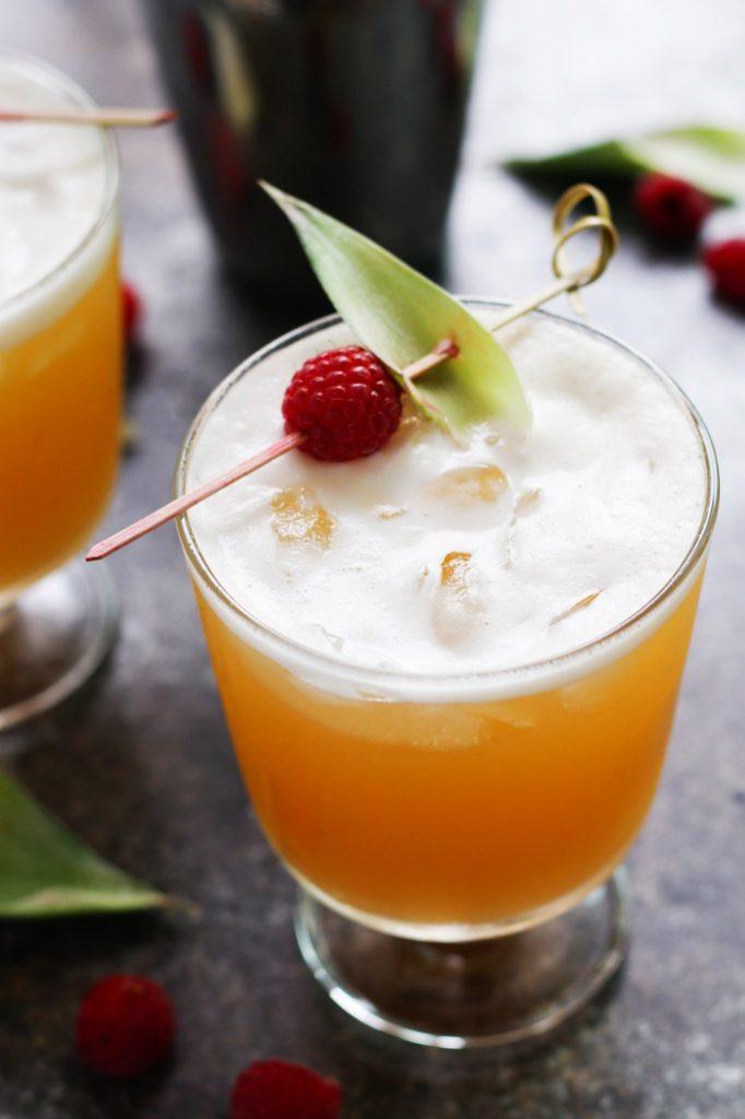 Tropical Drinks With Vodka  Pineapple Raspberry Vanilla Vodka Collins