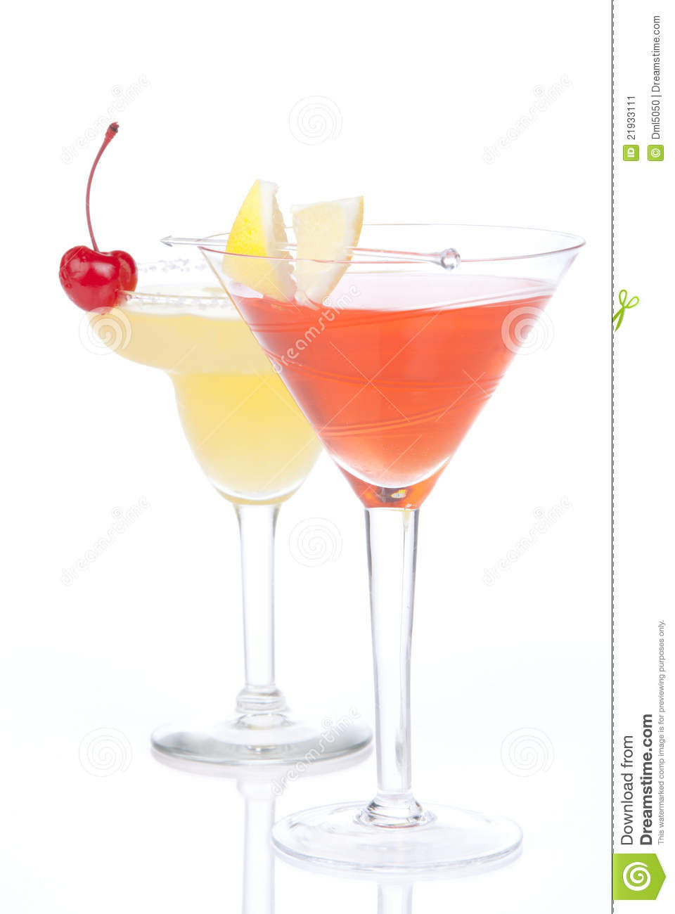 Tropical Drinks With Vodka  Summer Tropical Martini Cocktails With Vodka Stock Image