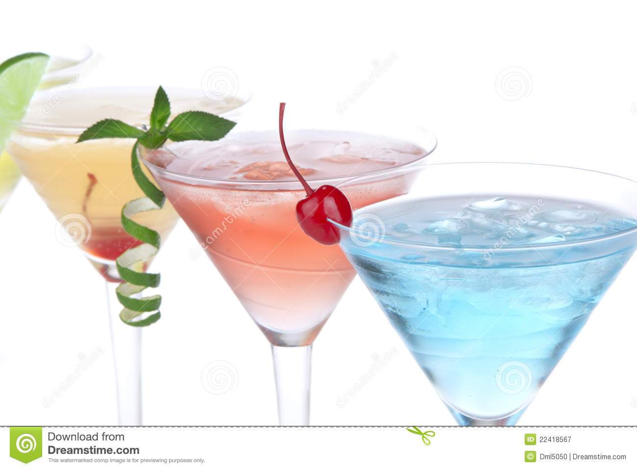 Tropical Drinks With Vodka  Tropical Martini Cocktails With Vodka Royalty Free Stock