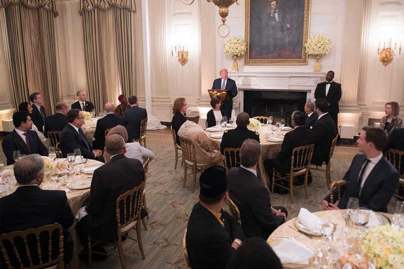 Trump Ramadan Dinner  Donald Trump hosts first iftar dinner at White House