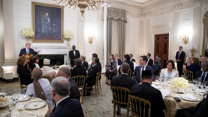 Trump Ramadan Dinner  Trump hosts first iftar dinner at White House as