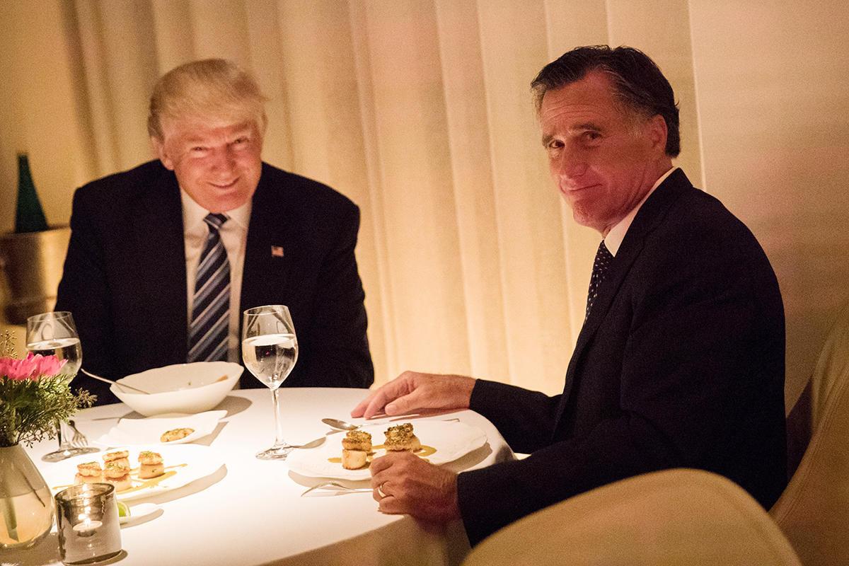 Trump Romney Dinner  Mitt Romney Praises President elect Trump After Dinner