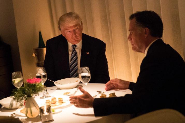 Trump Romney Dinner  Romney gushes over Trump after posh dinner – POLITICO