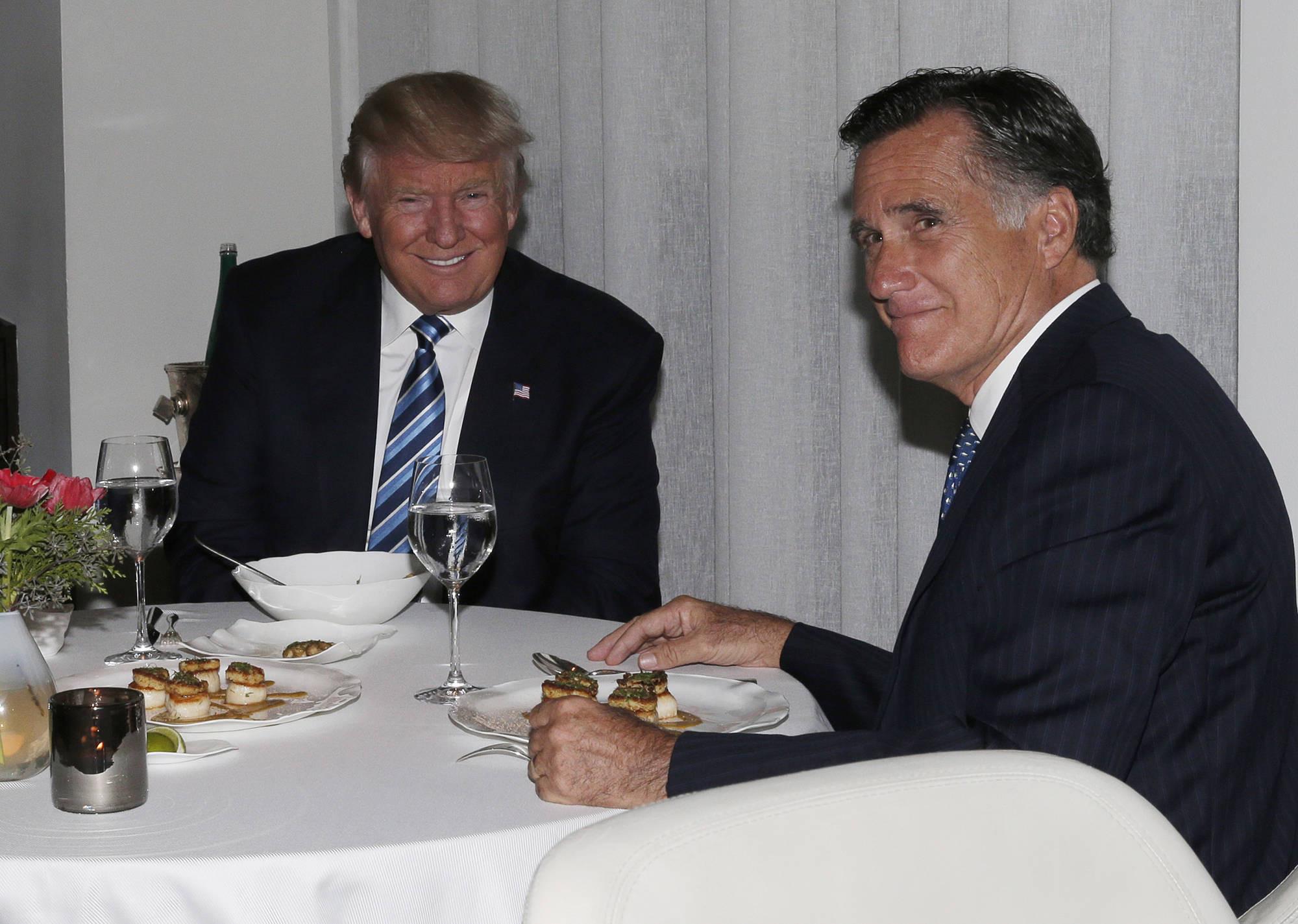 Trump Romney Dinner  Trump Romney l'odio diventa amore – Il blog di Orlando