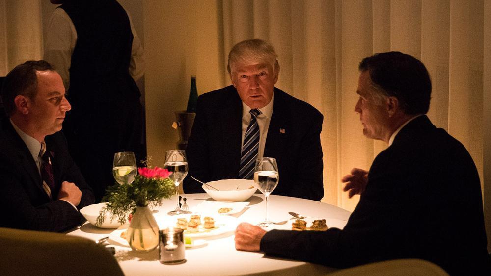 Trump Romney Dinner  CNN reporter caught live tweeting private dinner between