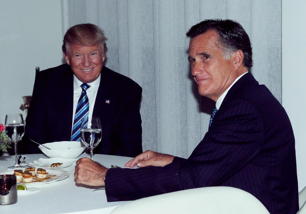 Trump Romney Dinner  Mitt Romney's Humiliating Trump Reversal The New Yorker