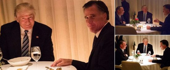 Trump Romney Dinner  Donald Trump and Mitt Romney Dine To her as