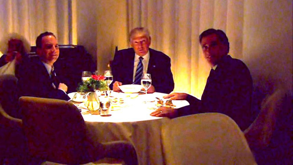 Trump Romney Dinner  Trump and Romney Sit Down for Dinner Video ABC News
