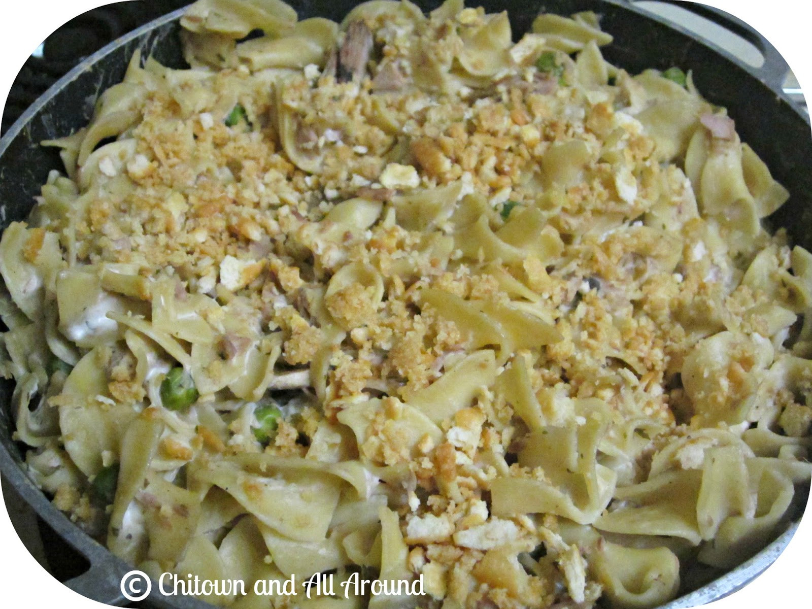 Tuna Casserole With Egg Noodles  Chitown And All Around Recipe Creamy Tuna Noodle Casserole