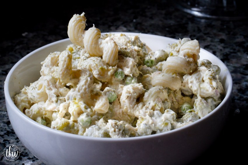 Tuna Casserole With Mayo  Cold Tuna Noodle Casserole with Peas and Dill