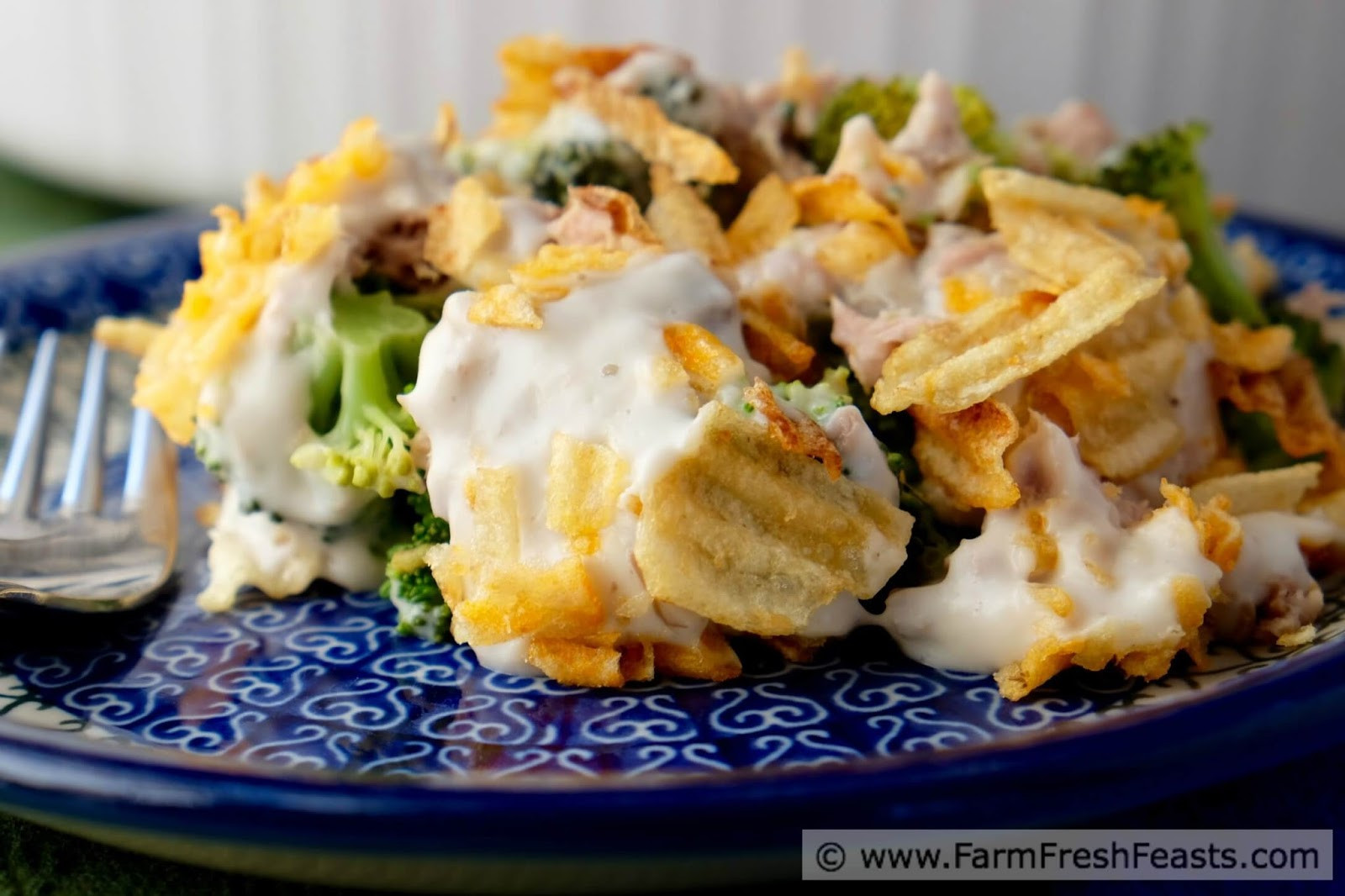 Tuna Casserole With Potato Chips  Farm Fresh Feasts Tuna Broccoli Casserole with Potato
