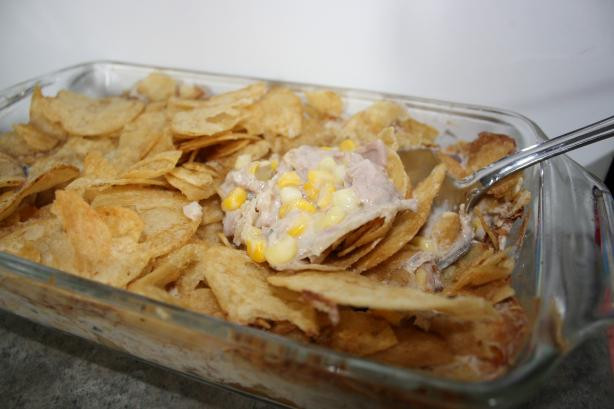 Tuna Casserole With Potato Chips  Moms Potato Chip Tuna Casserole Recipe Healthy Food