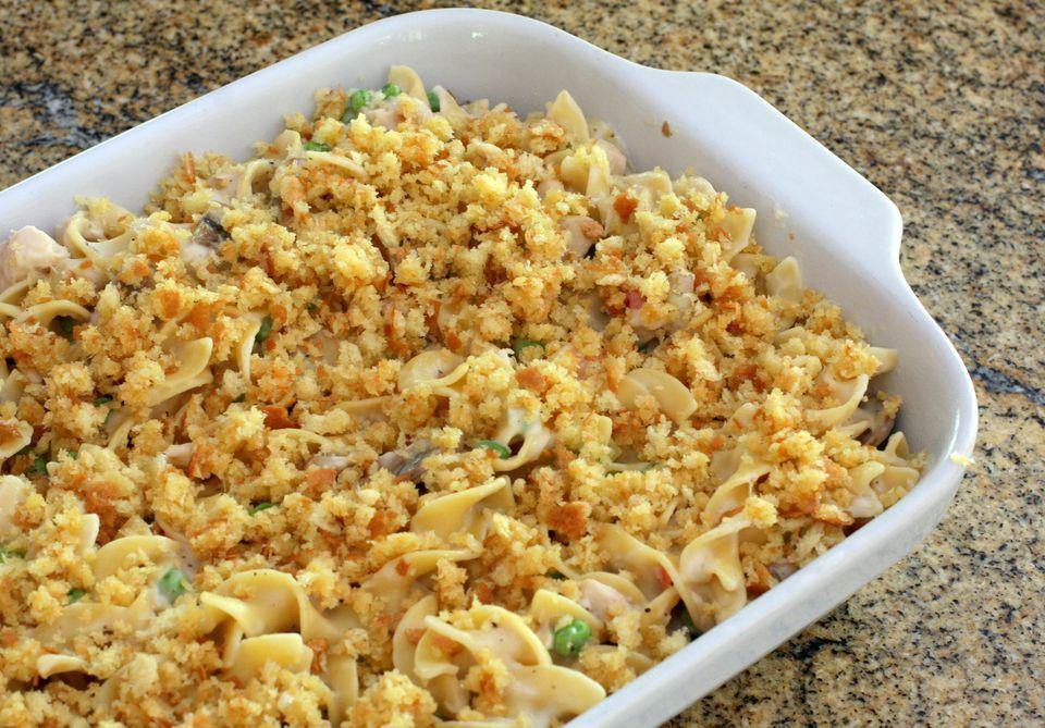 Tuna Noodle Casserole Recipes  Classic Tuna Noodle Casserole Recipe Without Soup