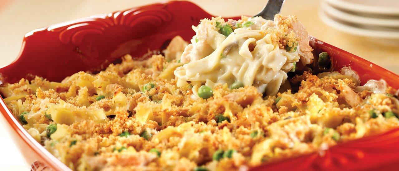 Tuna Noodle Casserole With Cream Of Mushroom Soup  Party Size Tuna Noodle Casserole Recipe
