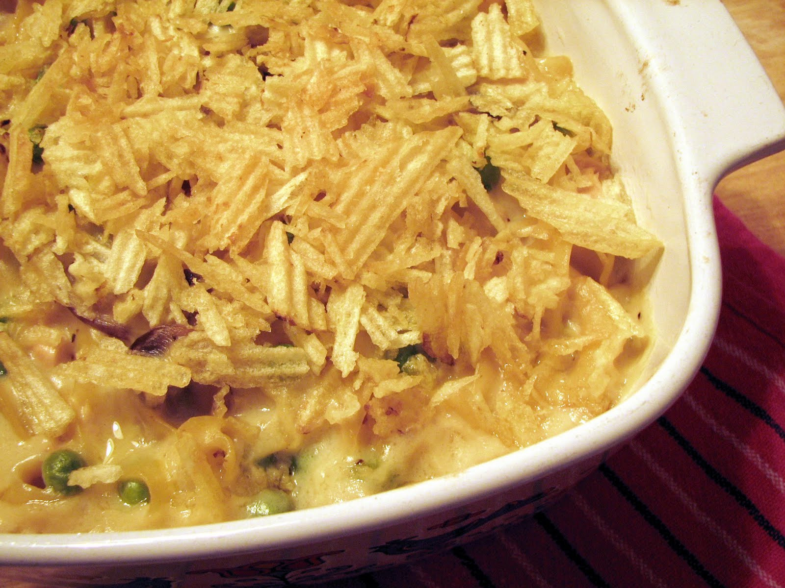Tuna Noodle Casserole With Potato Chips  GAFunkyFarmhouse Foo Fridays Tuna Noodle Casserole