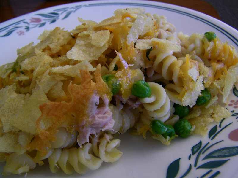 Tuna Noodle Casserole With Potato Chips  Chef Mommy Tuna Noodle Casserole