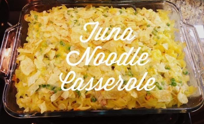 Tuna Noodle Casserole With Potato Chips  Tuna Noodle Casserole