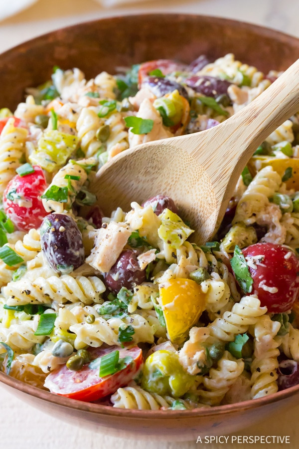 Tuna Pasta Salad  Tuna Pasta Salad with Olives and Capers A Spicy Perspective