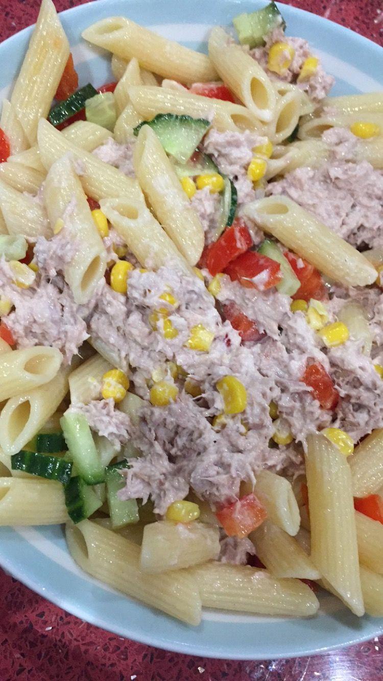 Tuna Pasta Salad Recipe  Pasta salad with tuna mayonnaise recipe All recipes UK