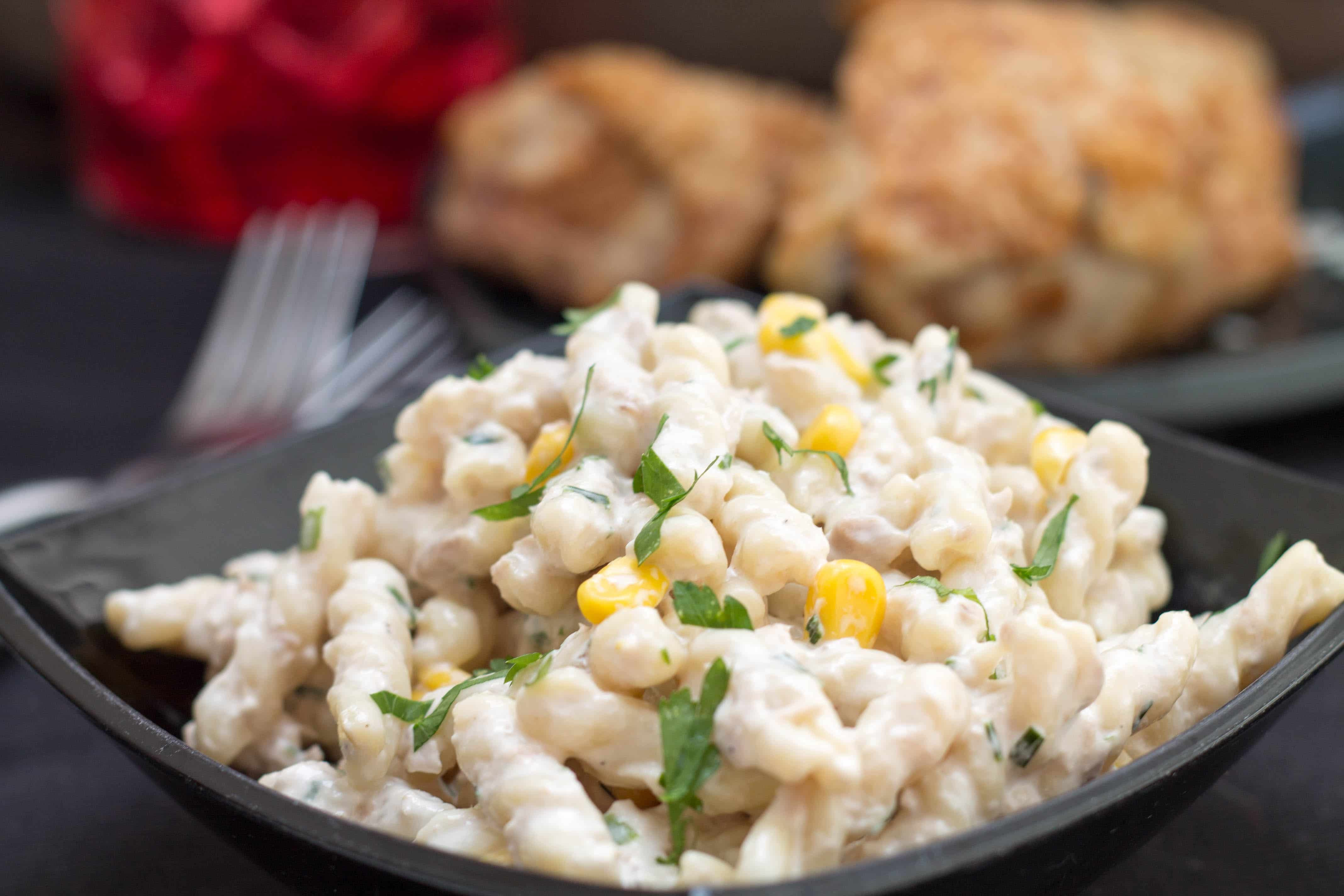 Tuna Pasta Salad  Quick and Easy Corn & Tuna Pasta Salad Erren s Kitchen