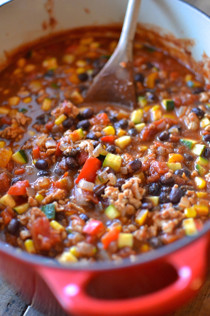 Turkey Black Bean Chili  Kicked Up Black Bean Turkey Chili Sweet Peas and ABCs