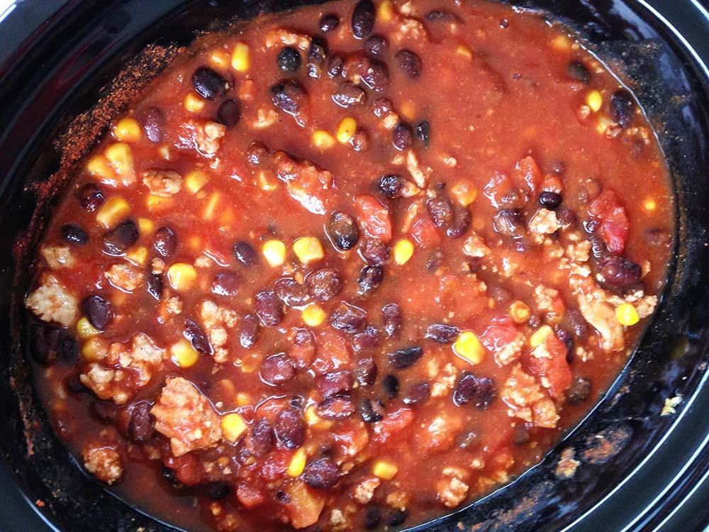 Turkey Black Bean Chili  Slow cooker turkey black bean chili