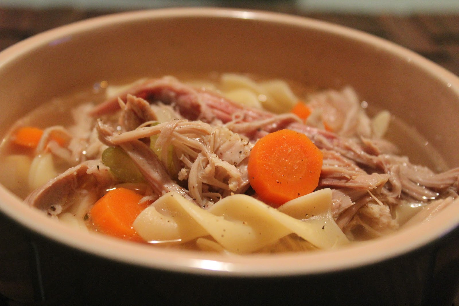Turkey Bone Soup  Delicious Dishings Homemade Turkey Soup And Stock