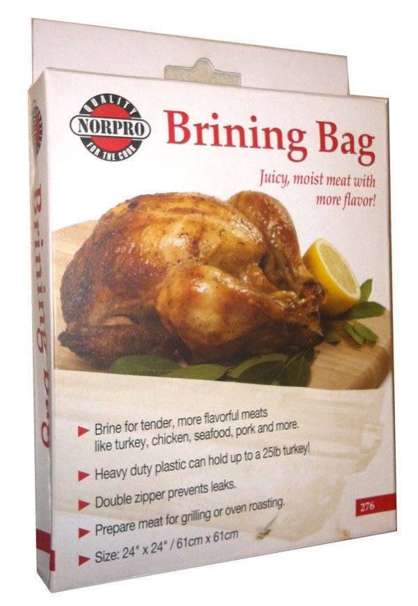Turkey Brine Bag  NORPRO 276 Leakproof Seal Brining Bag Holds 25LB Turkey