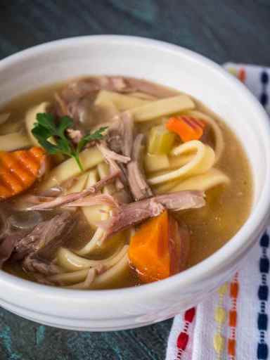 Turkey Carcass Soup  Pressure Cooker Day After Thanksgiving Turkey Carcass Soup