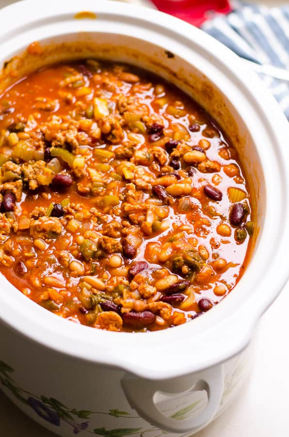 Turkey Chili Recipe  healthy ground turkey chili