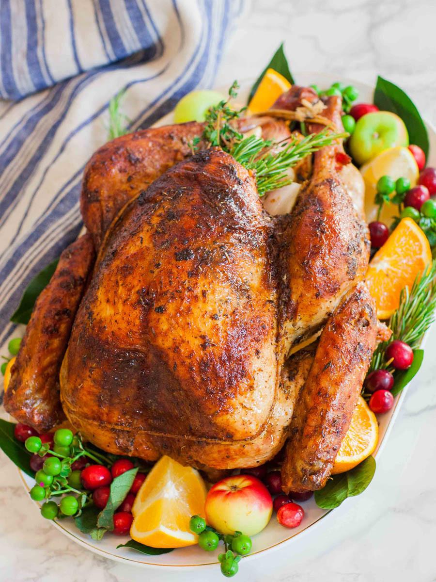 Turkey For Thanksgiving  Garlic Butter Thanksgiving Turkey With Gravy Tatyanas
