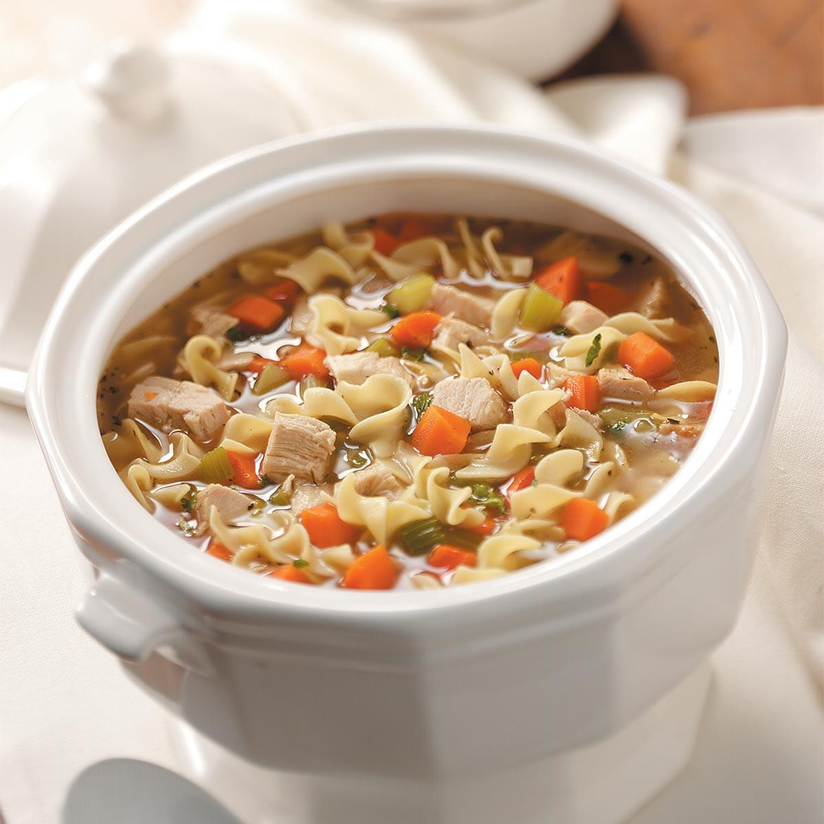 Turkey Noodle Soup  Old Fashioned Turkey Noodle Soup Recipe