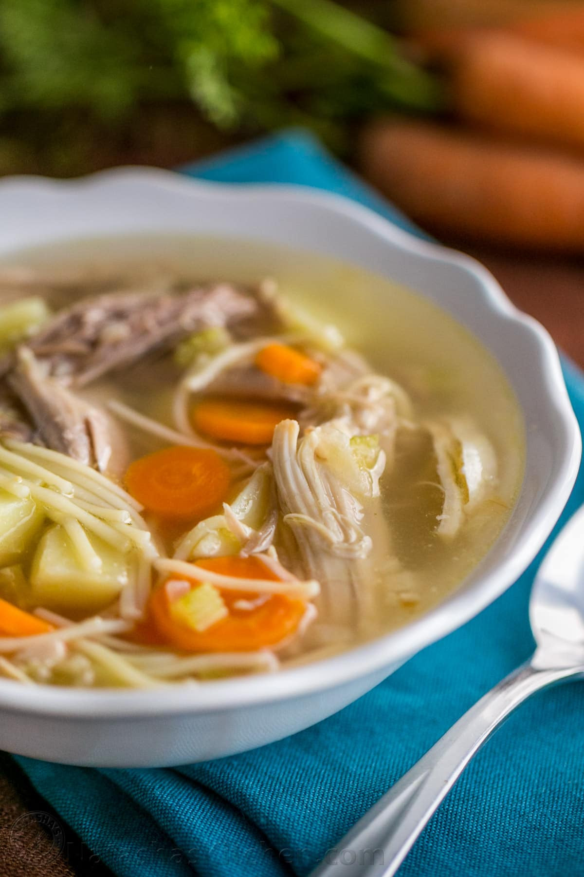Turkey Noodle Soup  Turkey Noodle Soup Recipe Natasha s Kitchen