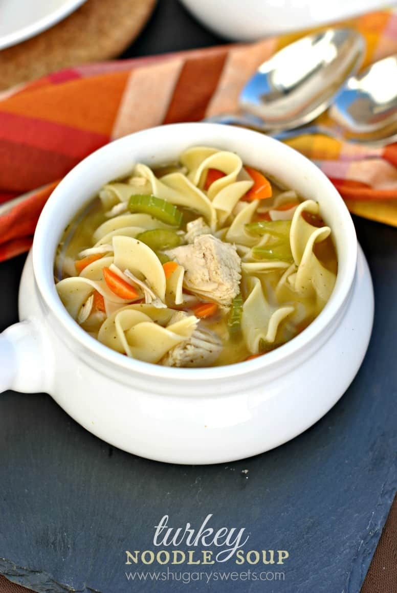 Turkey Noodle Soup  Turkey Noodle Soup Shugary Sweets