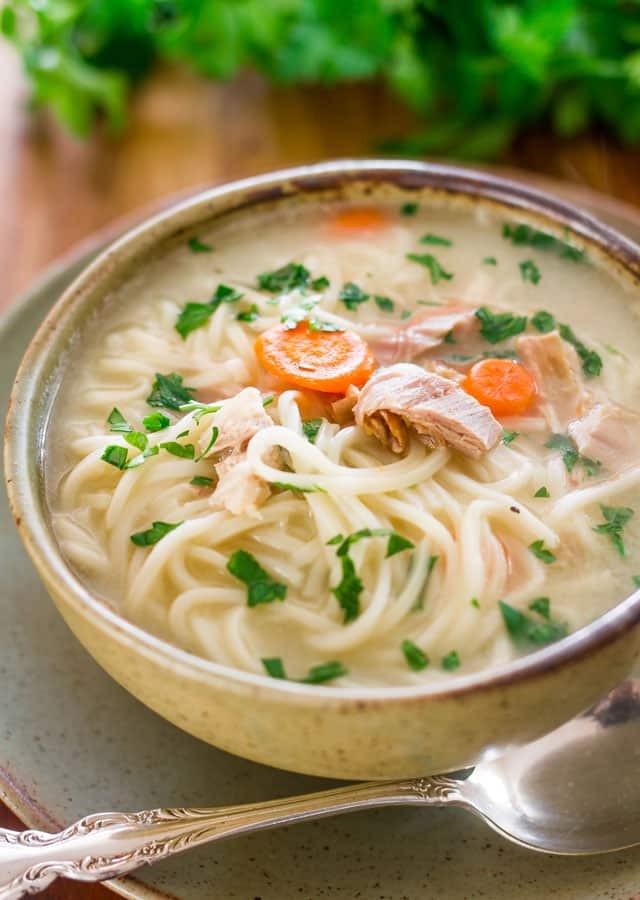 Turkey Noodle Soup  Leftover Turkey Noodle Soup Jo Cooks