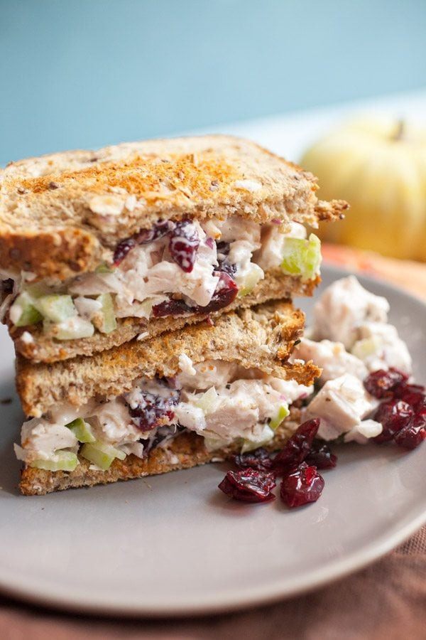 Turkey Salad Sandwich  Leftover Turkey Salad Sandwiches Recipe Girl