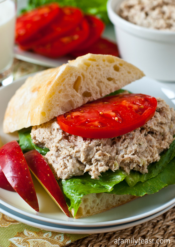 Turkey Salad Sandwich  Turkey Salad Sandwich A Family Feast